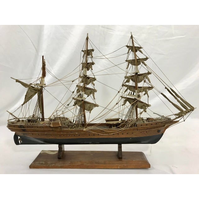 "Spanish Hand Crafted Model of the Schooner ""Eagle"" For Sale - Image 4 of 7"