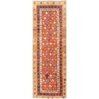 Small Tribal Antique Persian Bakshaish Rug - 3′8″ × 10′2″ For Sale