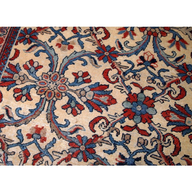 Textile 1900s Handmade Antique Persian Mahal Rug 9.2' X 11.6' For Sale - Image 7 of 11