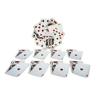 1950s Playing Cards Plate Service - Set of 9 For Sale