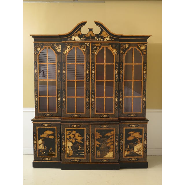1980s Chinoiserie Decorated 4 Door Breakfront Bookcase For Sale - Image 13 of 13