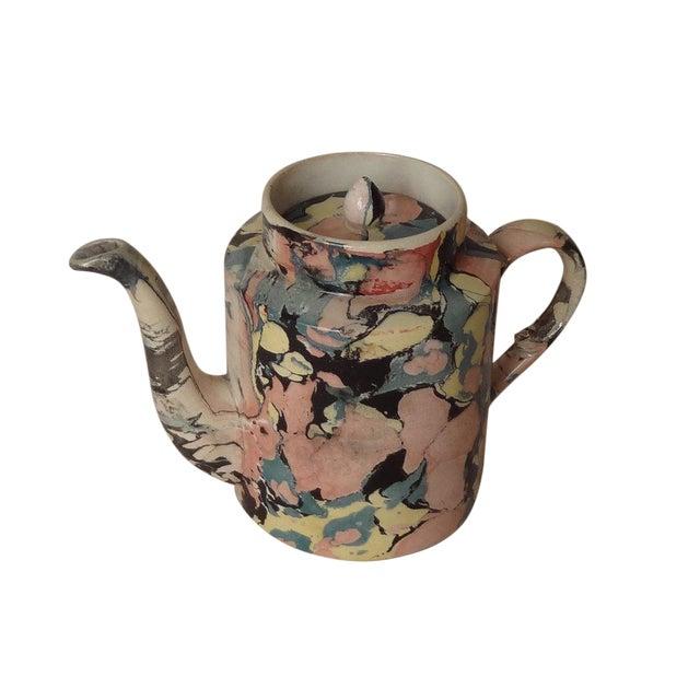 A Sarreguemines Tea Pot For Sale