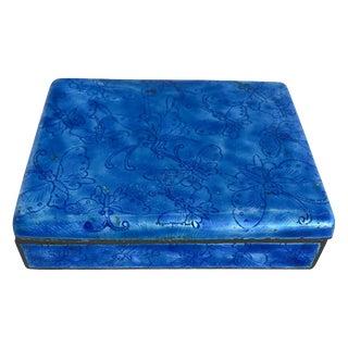 Rare Blue Cloisonne Box For Sale