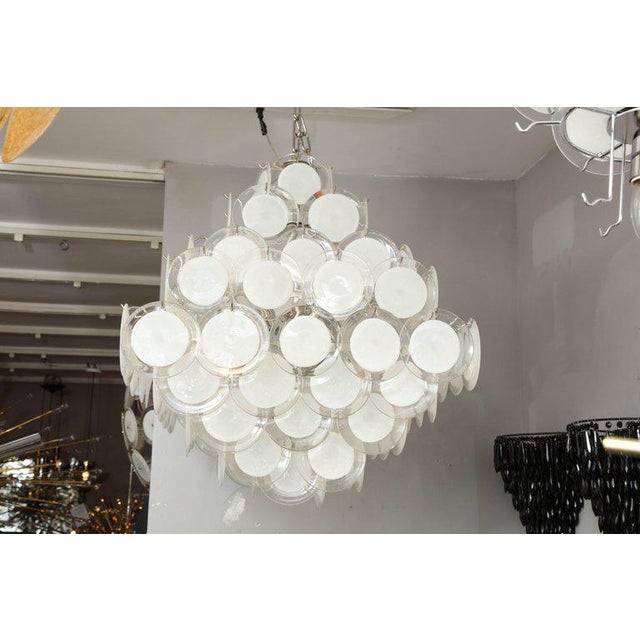 Murano Glass Disc Chandelier For Sale - Image 10 of 10