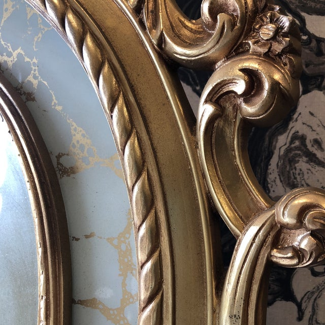 Rococo Scrolling Floor Gilded Mirror For Sale In Atlanta - Image 6 of 7