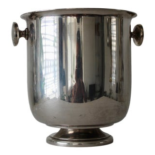 Sambonet Italy Silver Plated Wine Bucket Vintage For Sale