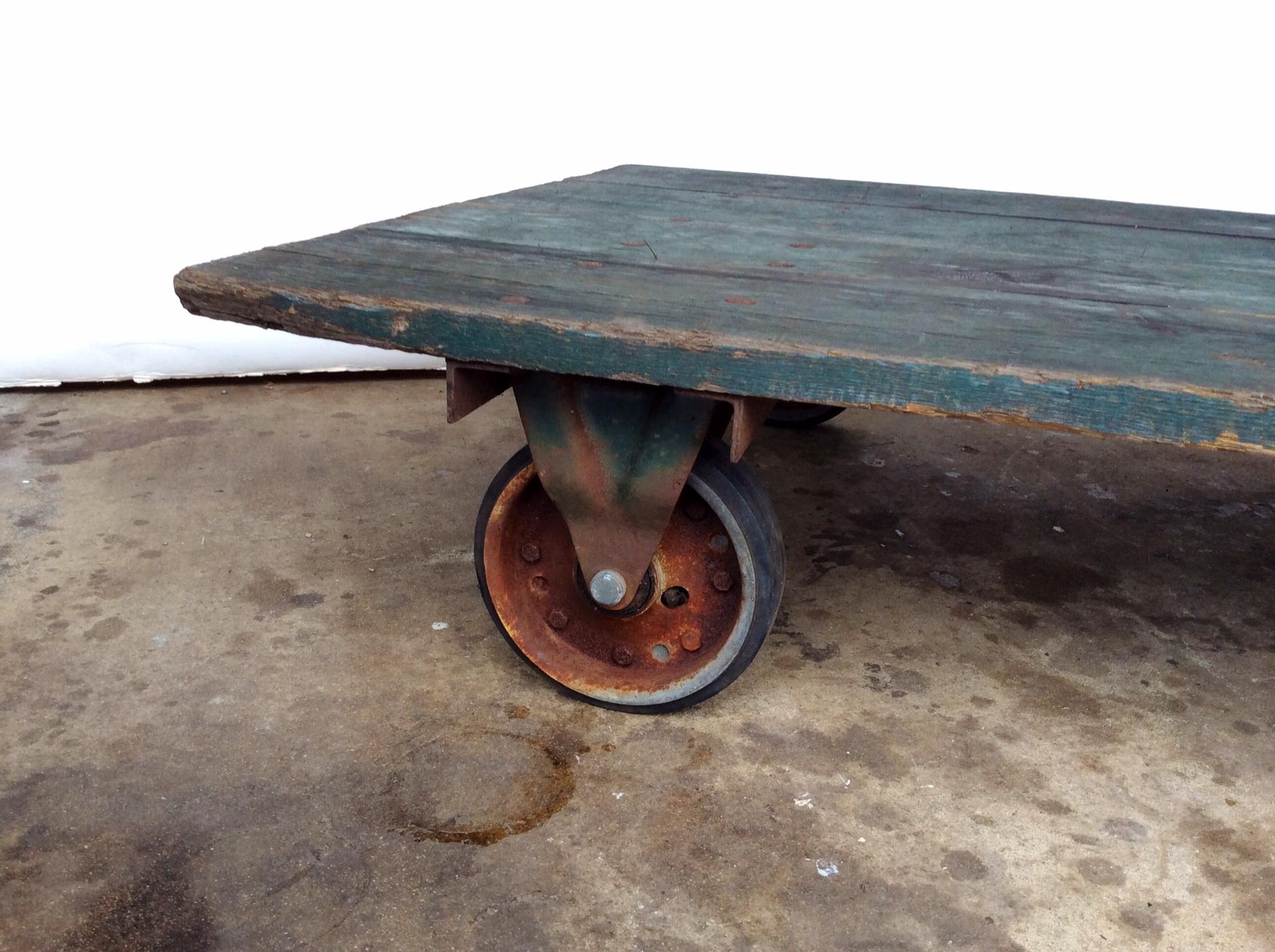 Vintage Railroad Cart Coffee Table   Image 4 Of 9