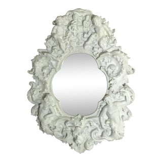 Grand Scale White Itailan Mirror