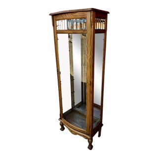 1970s Victorian Oak Display Cabinet For Sale