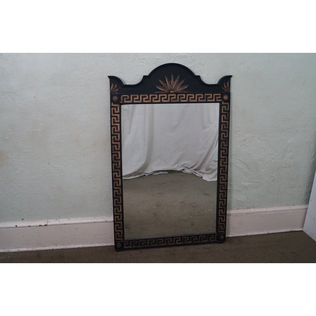 Vintage Hollywood Regency Greek Key Mirror For Sale In Philadelphia - Image 6 of 10