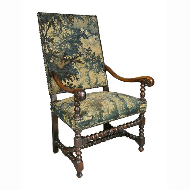 Flemish Baroque Walnut Armchair For Sale - Image 12 of 12