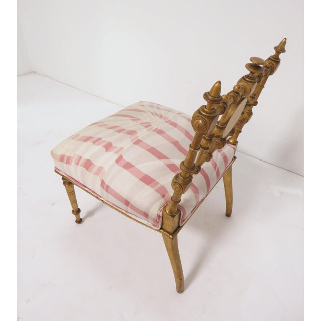 Gold Late 1800s American Aesthetic Movement Giltwood Slipper Chair For Sale - Image 8 of 13