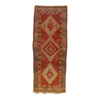 Berber Moroccan Rug Gallery Size with Tribal Design For Sale