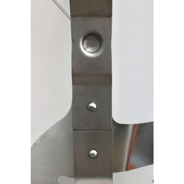 Mid-Century Modern Wall Mount Can Opener Sculpture by Curtis Jere in Stainless Steel For Sale - Image 3 of 11