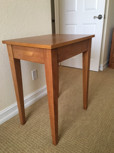Beau Hard To Find Solid Maple Table From Ethan Allen Country Colors Collection.  Can Be Used