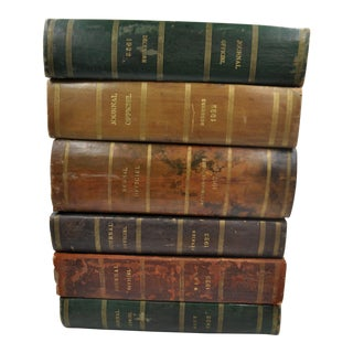 Antique French Leather-Bound Books For Sale