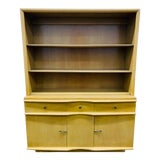 Image of Mid Century Modern Tan China Cabinet For Sale