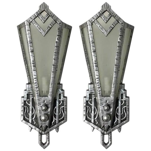 Art Deco Sconces - A Pair For Sale