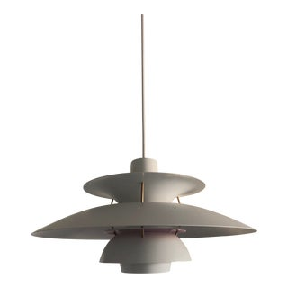White Louis Poulsen Ph5 Pendant Lamp For Sale