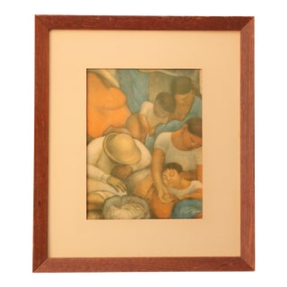 "Diego Rivera ""Sleep"" (The Night of the Poor) Lithograph Print For Sale"