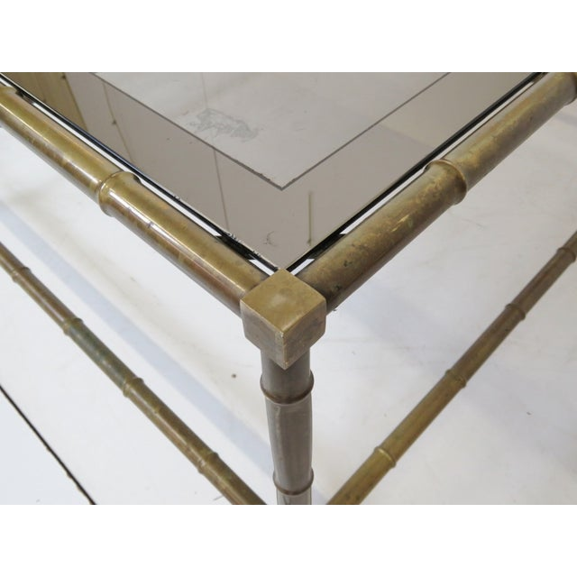Bronze Faux Bamboo Cocktail Table - Image 3 of 5