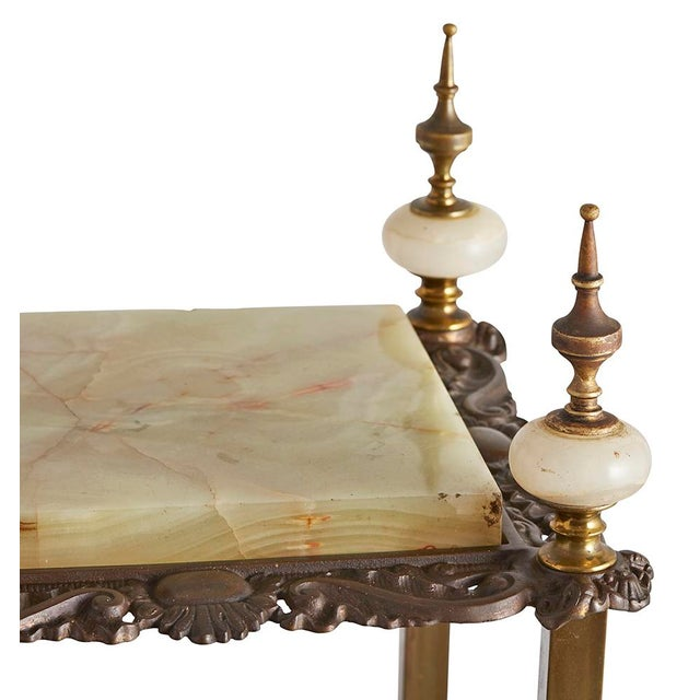 superior highly decorative onyx brass etagere circa 1890. Black Bedroom Furniture Sets. Home Design Ideas