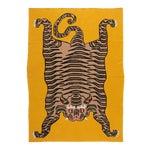 Tiger Cashmere Blanket, Mustard, King