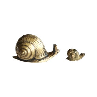 Solid Brass Snails - Pair