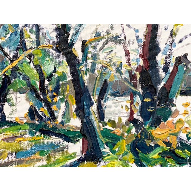 Abstract Expressionism Abstract Expressionist James River Morning - Original Oil Painting by Rebecca Dvorak For Sale - Image 3 of 7