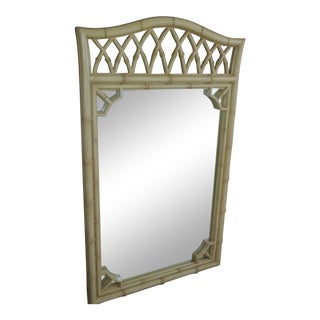 Thomasville Allegro Chinoiserie Hollywood Regency Faux Bamboo Mirror For Sale