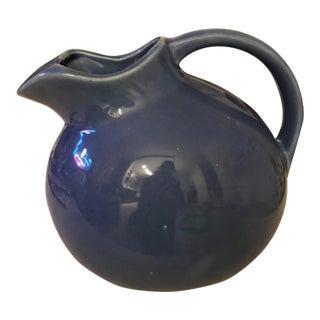 Vintage Cobalt Blue Ball Pitcher
