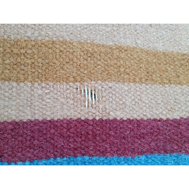Flat Woven Wool Kilim Rug- 6' x 9' - Image 9 of 10