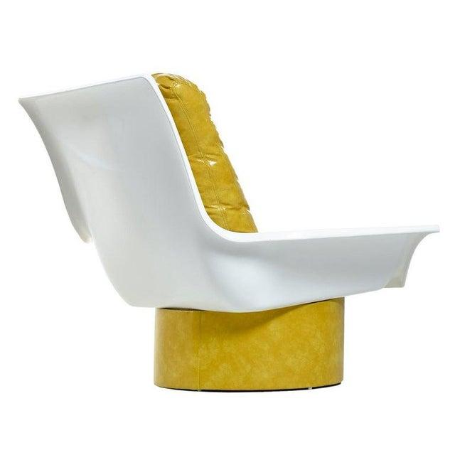 Mid-Century Modern Futorian Decorian Molded Plastic Lemon Candy Shell Italian Modern Lounge Chairs For Sale - Image 3 of 13