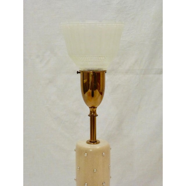 Rembrandt Lamp Company Tommi Parzinger Studded Lamp For Sale - Image 4 of 7