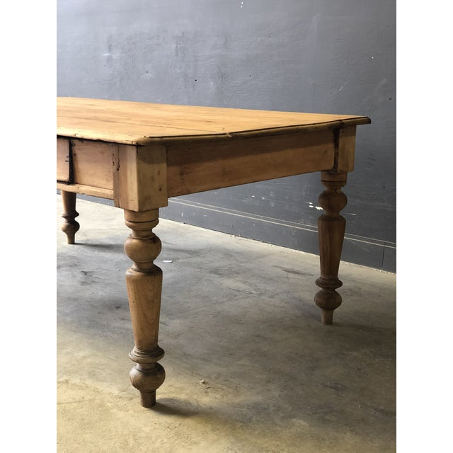 Antique French Farm Table For Sale - Image 4 of 8