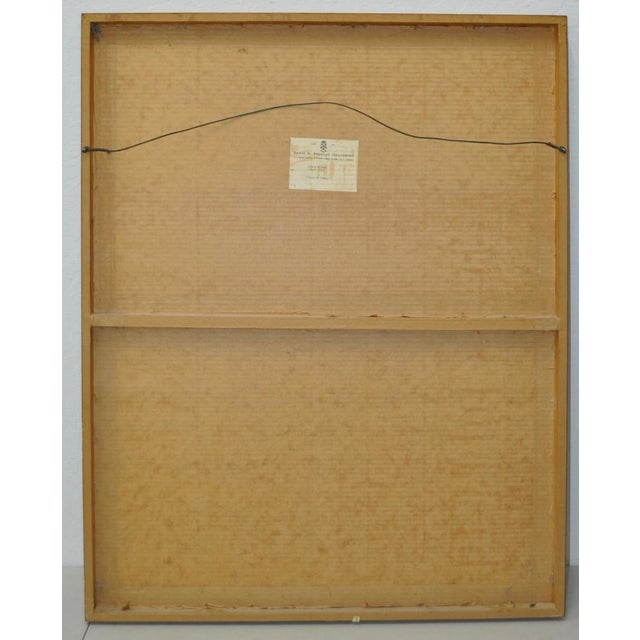 """Andre Mineaux """"Tete de Femme"""" Original Lithograph c.1960s For Sale - Image 11 of 11"""