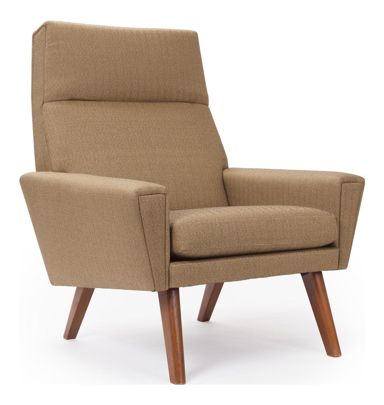 Superieur 1950s Herringbone Tall Back Chair   Image 1 Of 4