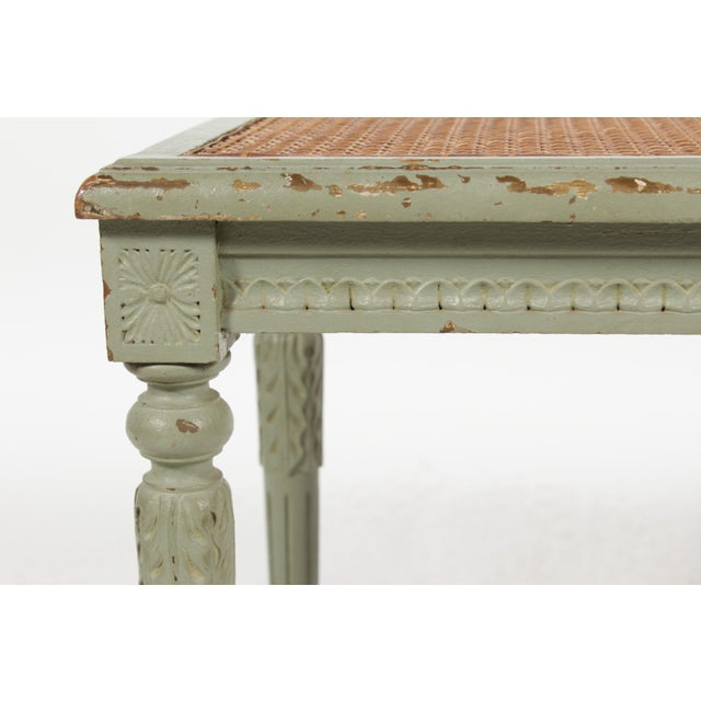 Antique Louis XVI Style Painted Bench - Image 6 of 10