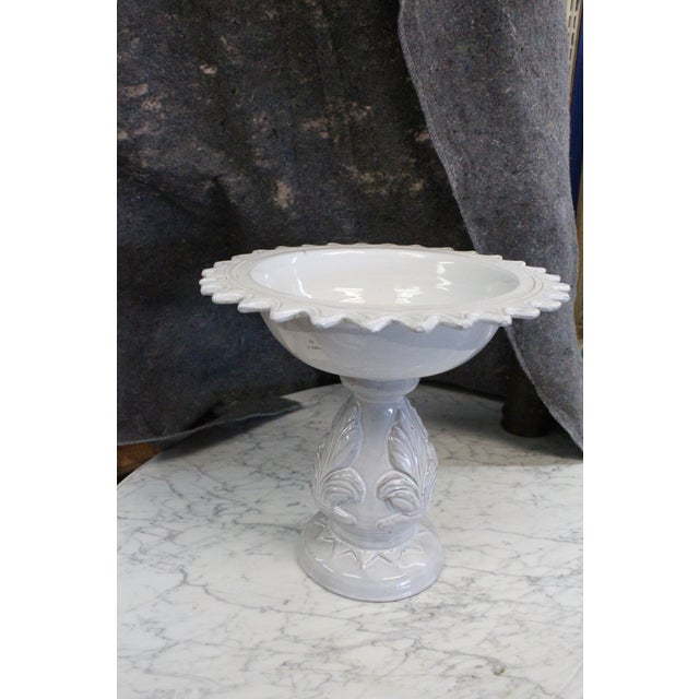 Large White Compote Planter For Sale In New York - Image 6 of 7