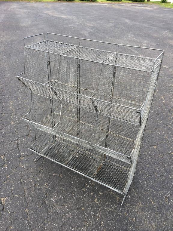 Industrial Style Wire Mesh Storage Bin   Image 2 Of 11