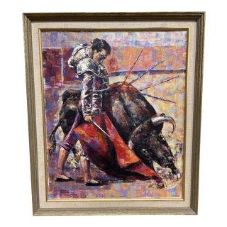 Epifanio Ortega Original Matador Painting For Sale