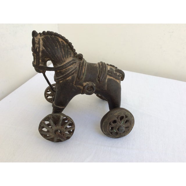 Antique Bronze Toy Horse From India For Sale In San Francisco - Image 6 of 8