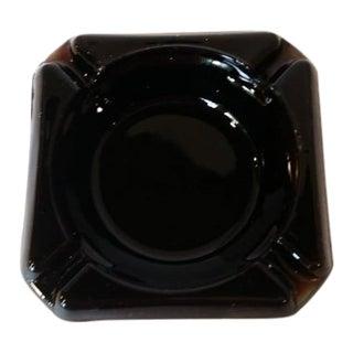 1930s Art Deco Black Amethyst Glass Ashtray For Sale