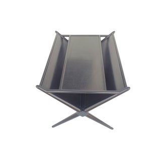 Black Lacquered Walnut Magazine Table by T.H. Robsjohn-Gibbings For Sale