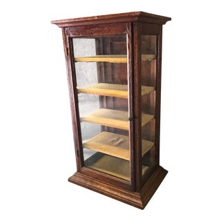 Late 19th Century Antique Mahogany Table Top Display Case For Sale