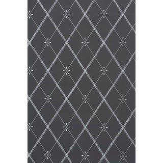 Sample - Schumacher Kasumi Diamond Wallpaper in Chalkboard Preview