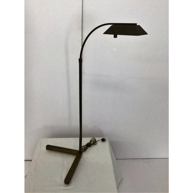 Modern Satin Bronze Pharmacy Lamp by Casella - Image 2 of 5