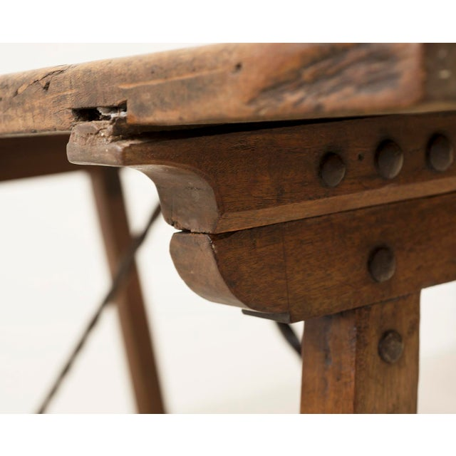 18th Century Spanish Travel Table in Walnut For Sale - Image 9 of 10