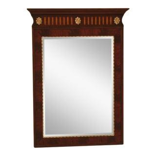 Ethan Allen Large Inlaid Mahogany Wall Mirror