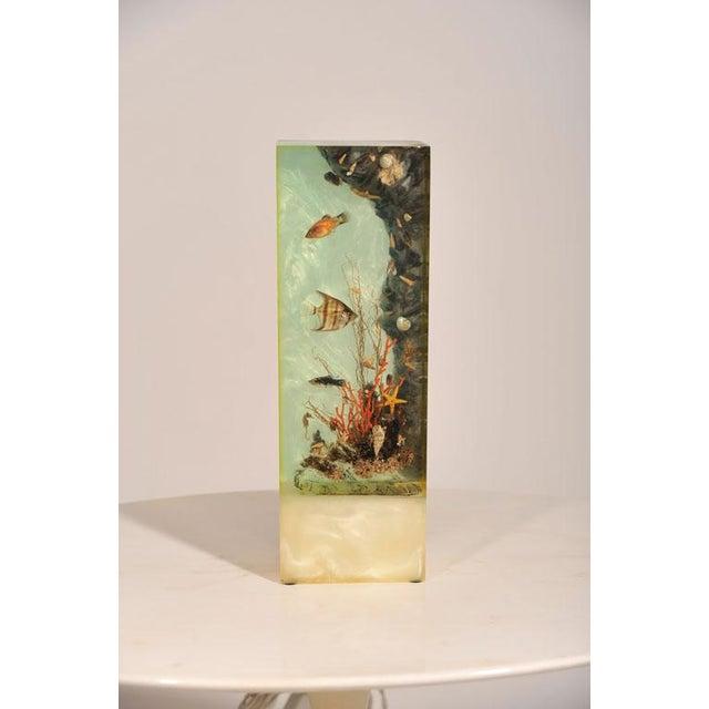 """Italian Lucite Lighted """"Under-the-Sea"""" Aquarium Sculpture - Image 2 of 7"""